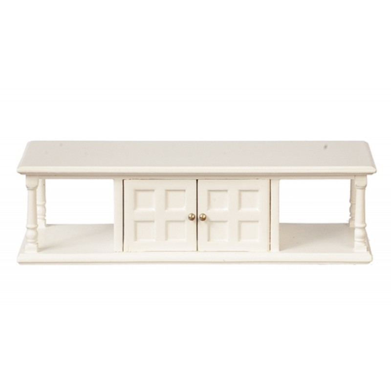 Dolls House White Summer Coffee Table with Storage JBM Living Room Furniture