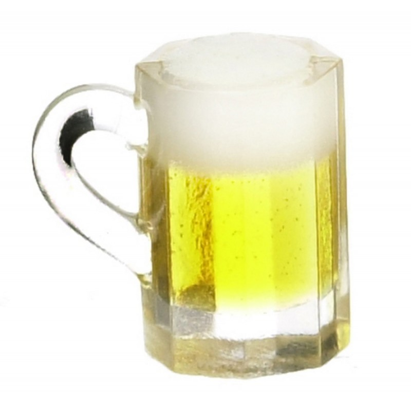 Dolls House  Glass Pint of Lager Ale Beer Miniature 1:12 Scale Pub Bar Accessory