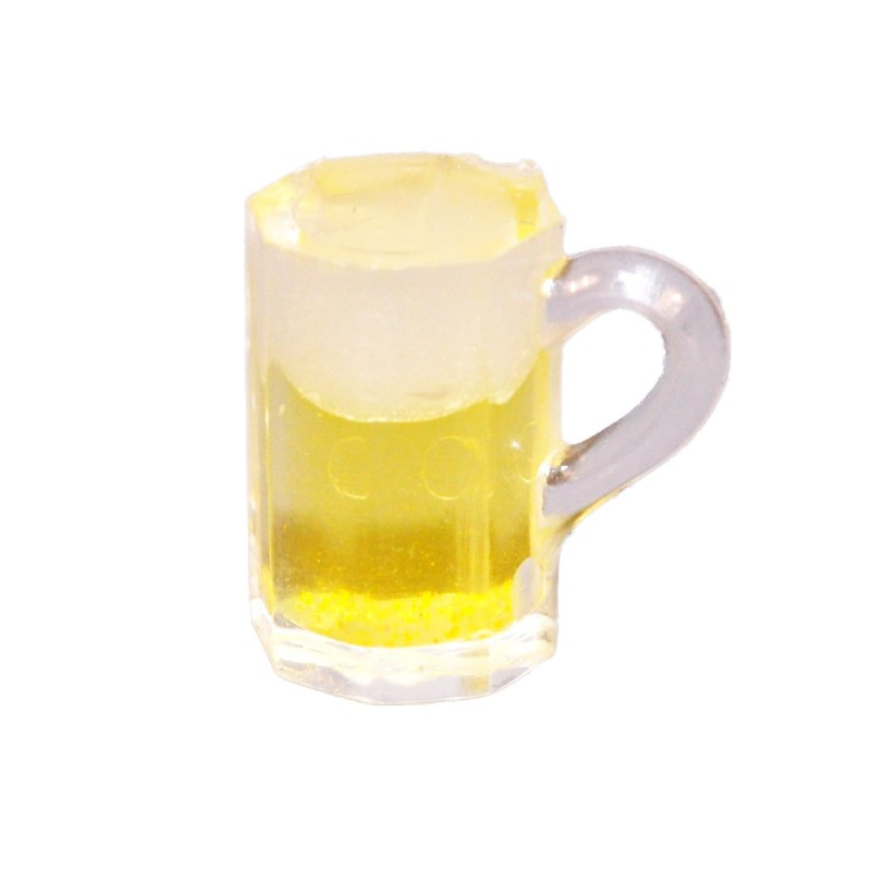 Dolls House Pint of Lager Glass Mug Ale Beer Miniature 1:12 Pub Bar Accessory