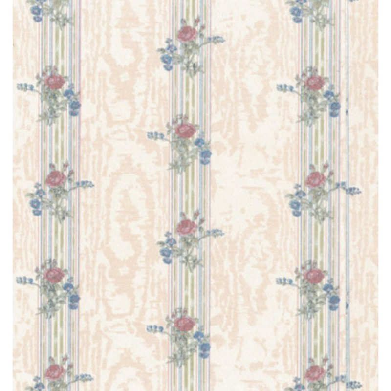 Dolls House Reflections Cream Miniature Print 1:12 Scale Wallpaper 3 Sheets