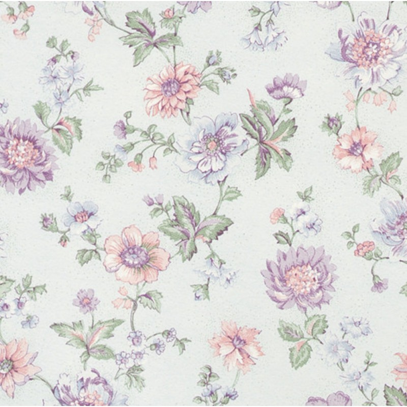 Dolls House Nicole Country French Blue Miniature Print 1:12 Wallpaper 3 Sheets