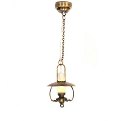 Hanging Daisy shade Light Fitting Dolls House Miniature Electrical Lighting
