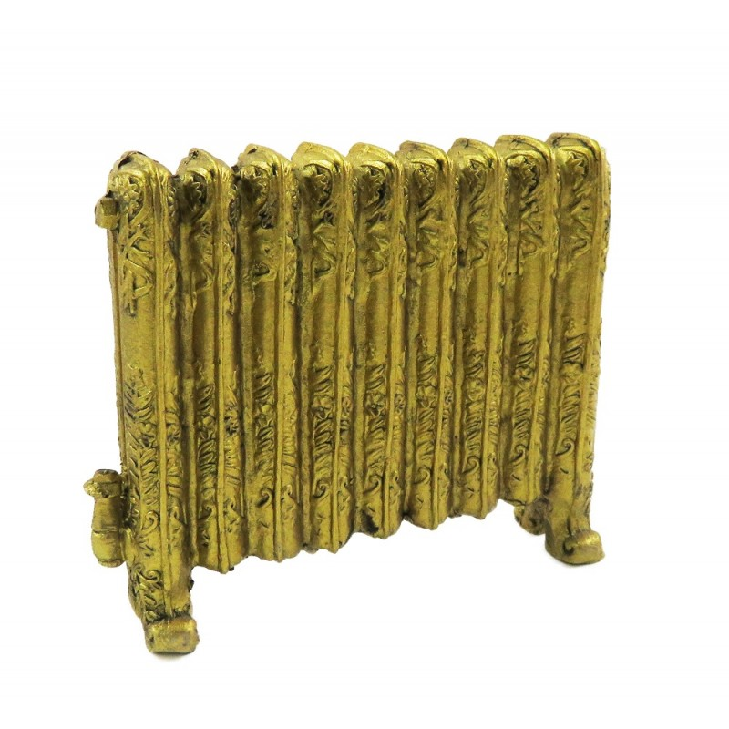 Dolls House Ornamental Victorian Radiator Antique Gold Miniature 1:12 Scale