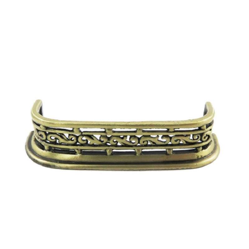 Dolls House Antique Brass Curved Edge Fireplace Fender Miniature 1:12 Accessory