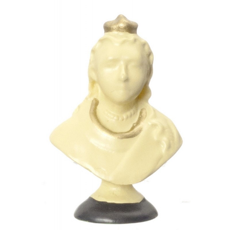 Dolls House Queen Victoria Bust Miniature Ornament 1:12 Scale Accessory