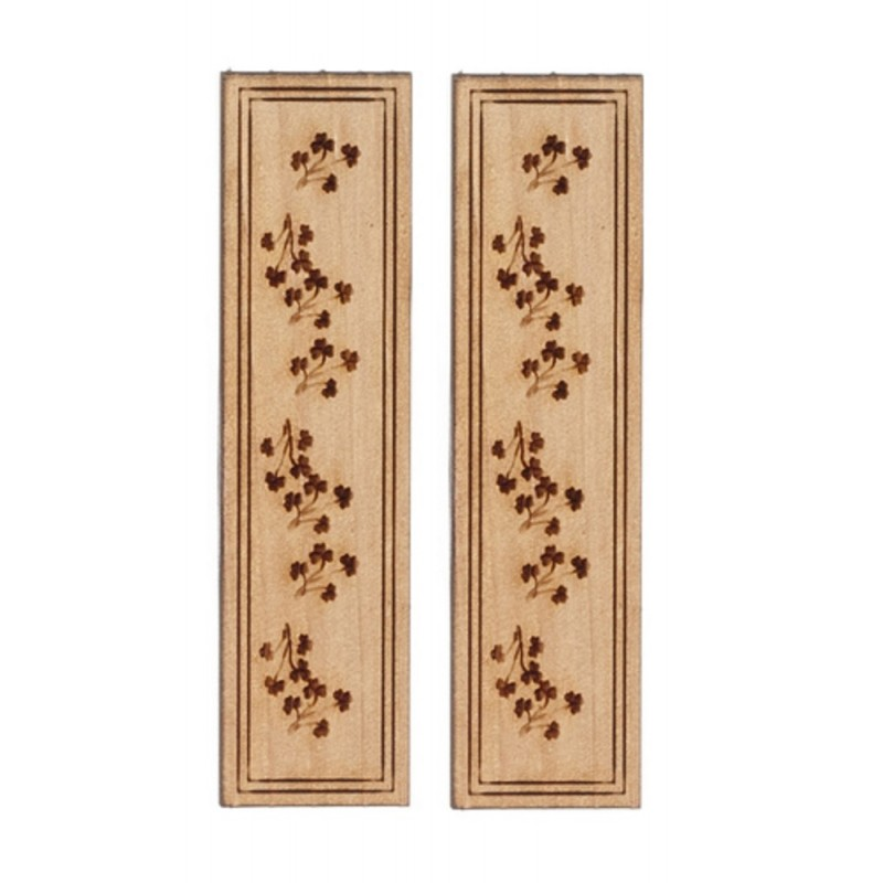 Dolls House Flower Shutters Wooden 1:12 Scale Laser Cut Window Accessory