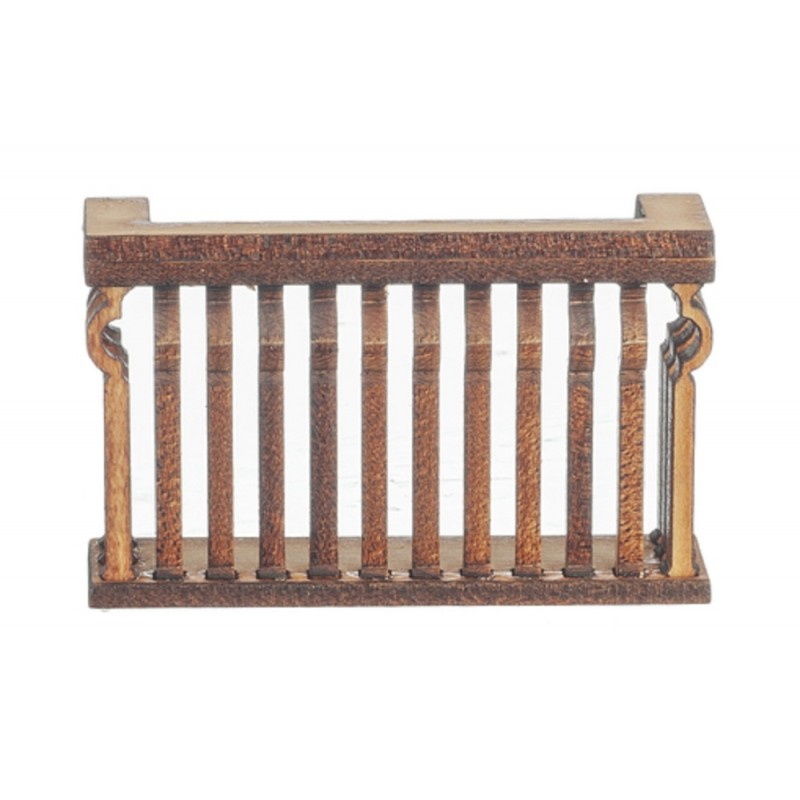 Dolls House Balcony Square C Curve Laser Cut Wooden Gallery 1:12 Scale