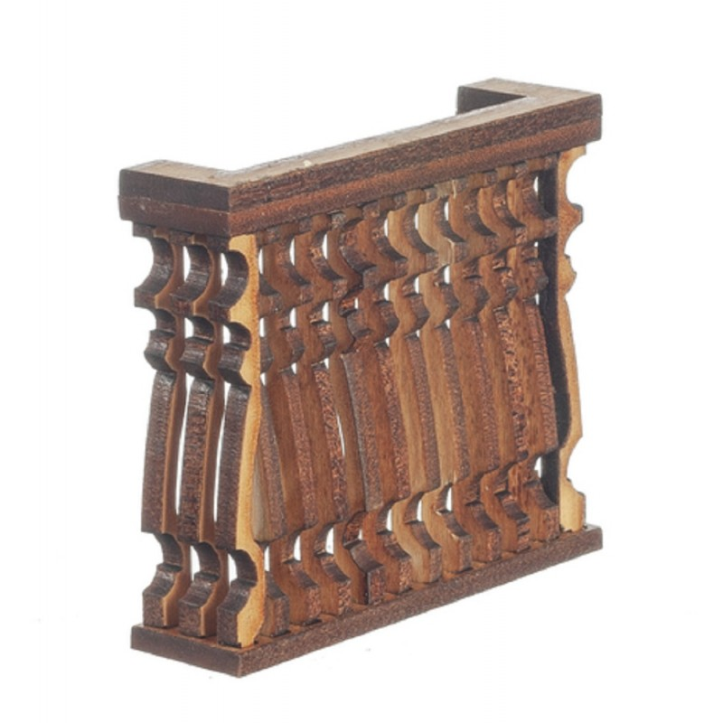 Dolls House Balcony Square F Curve Laser Cut Wooden Gallery 1:12 Scale