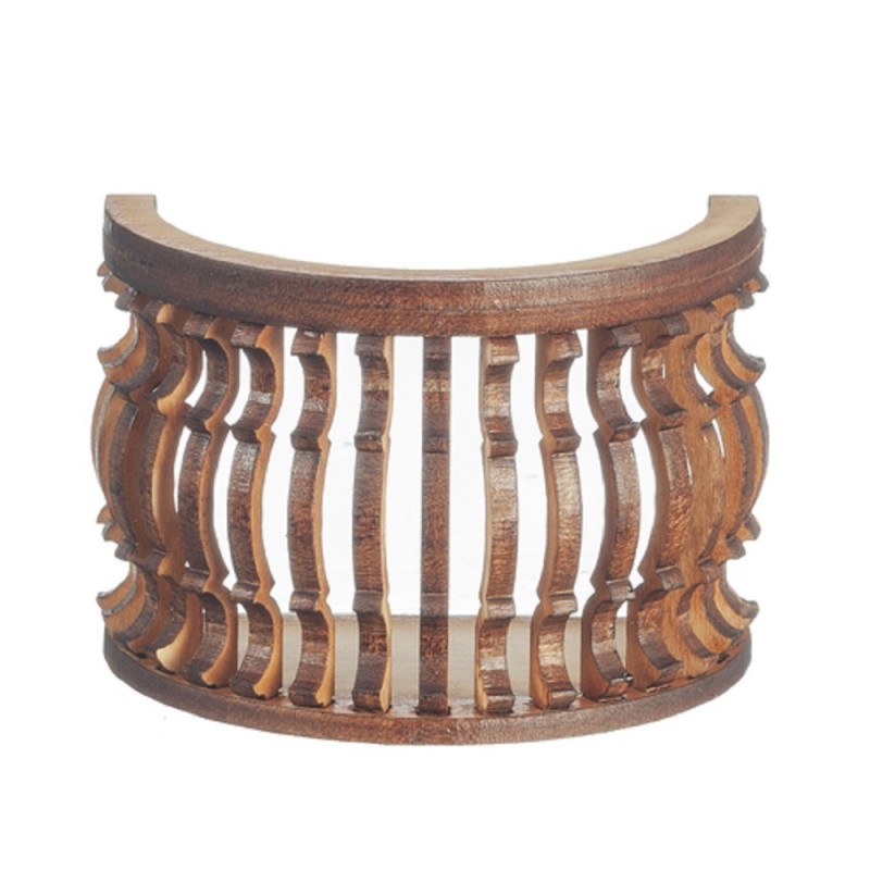 Dolls House Balcony Round B Curve Laser Cut Wooden Gallery 1:12 Scale