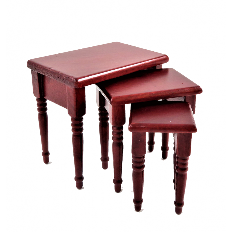 Dolls House Classic Mahogany Side Lamp Occasional Table Miniature Furniture