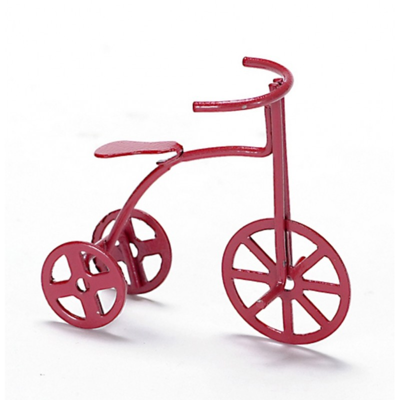 Dolls House Miniature 1:12 Nursery Toy Shop Accessory Childs Tricycle Bike Red