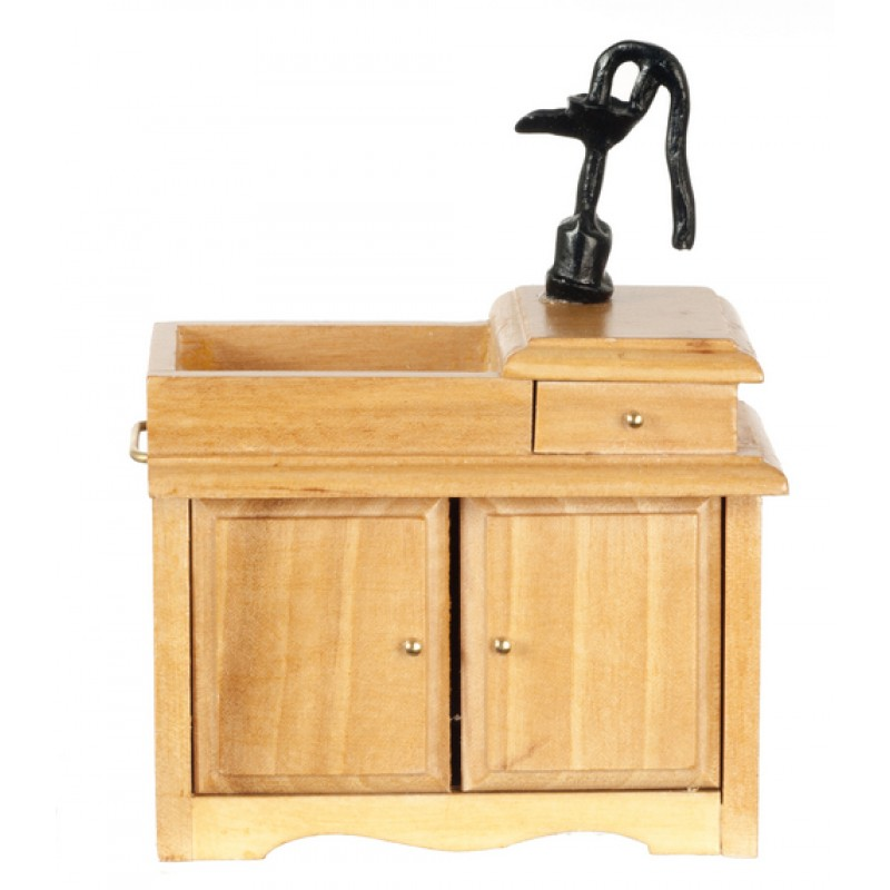 Dolls House Kitchen Furniture Old Fashioned Victorian Sink with Hand Pump 2678A