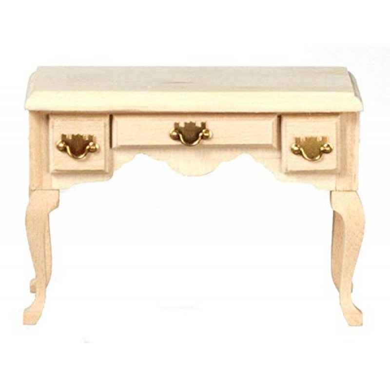 Dolls House Writing Desk Secretary Table Unfinished Miniature Study Furniture