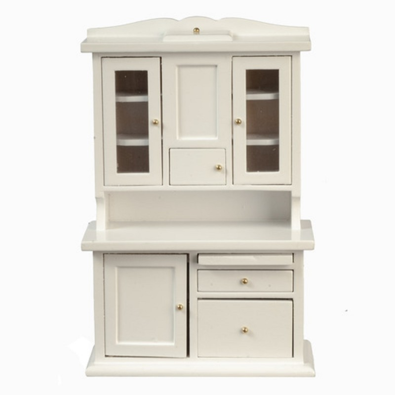 Dolls House White Flour Bin Dresser Hoosier Larder Cabinet Kitchen Furniture