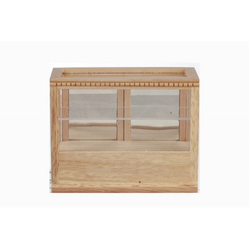 Dolls House Light Oak Shop Fittings Display Case Store Counter 1:12 Furniture
