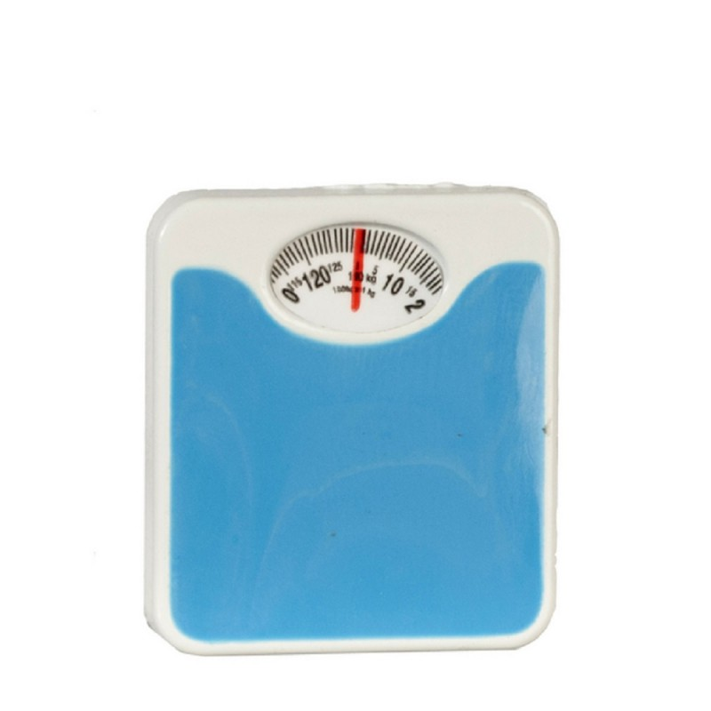 Dolls House Weighing Scales Miniature Bathroom Accessory Blue