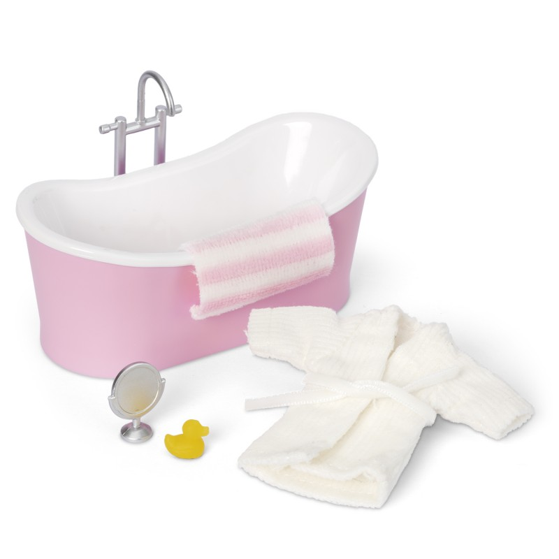 Lundby Dolls House Bath Tub & Accessory Set Bathroom Furniture 1:18 Scale