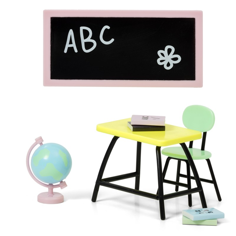 Lundby Dolls House School Accessory Set Furniture For Homework 1:18 Scale