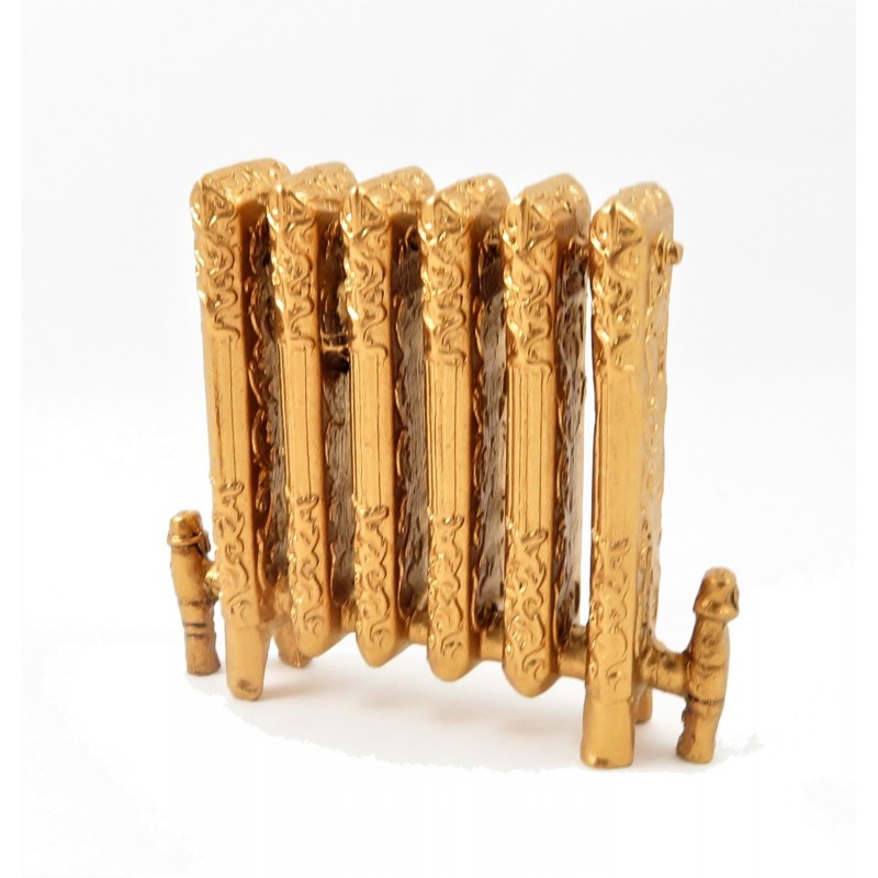 Dolls House Gold Ornamental Victorian Radiator Miniature 1:12 Resin Furniture