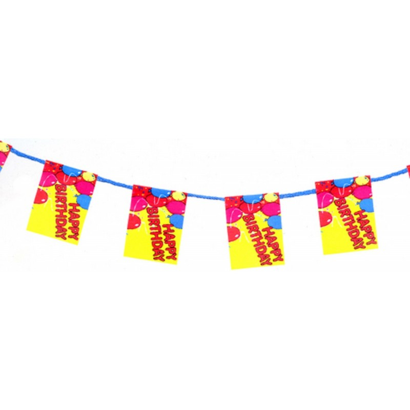 Dolls House Happy Birthday Banner Flag Garland Party Accessory 1:12 Scale