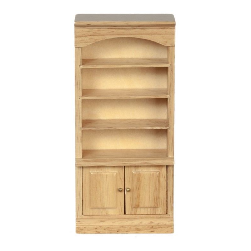 Dolls House Light Oak Bathroom Cupboard Shelf Unit Bookcase 1:12 Furniture