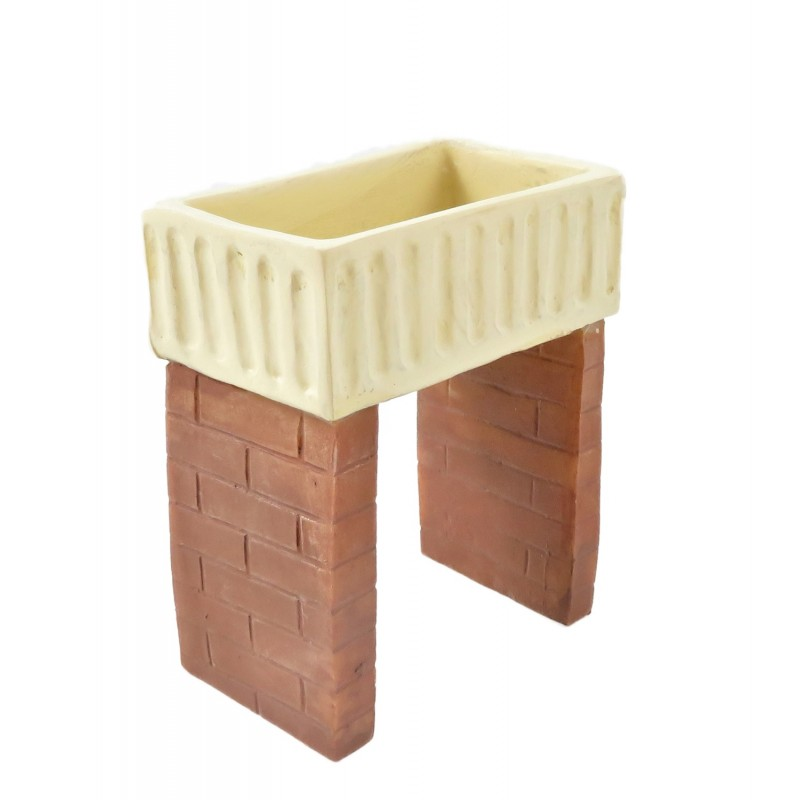 Dolls House Belfast Sink on Brick Legs Old Fashioned Kitchen Scullery Furniture