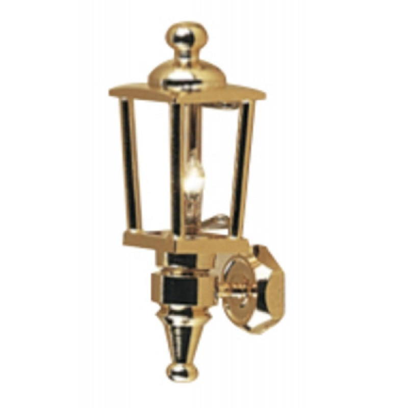 Dolls House Brass Carriage Coach Lamp Miniature Outside Lighting Electric Light
