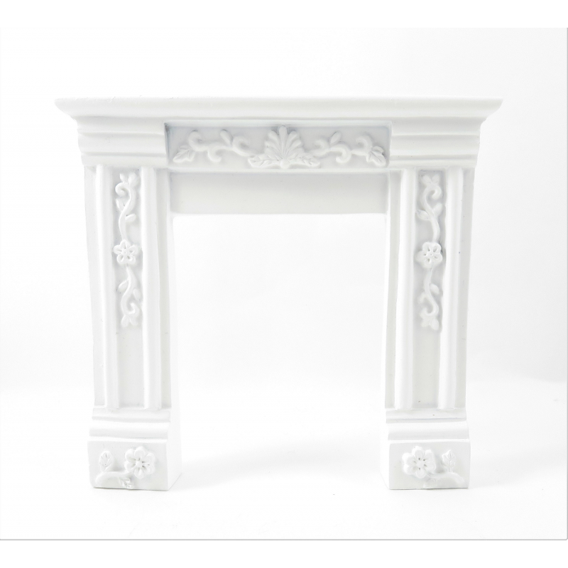 Dolls House Small White Victorian Fireplace Surround Resin 1:12 Furniture