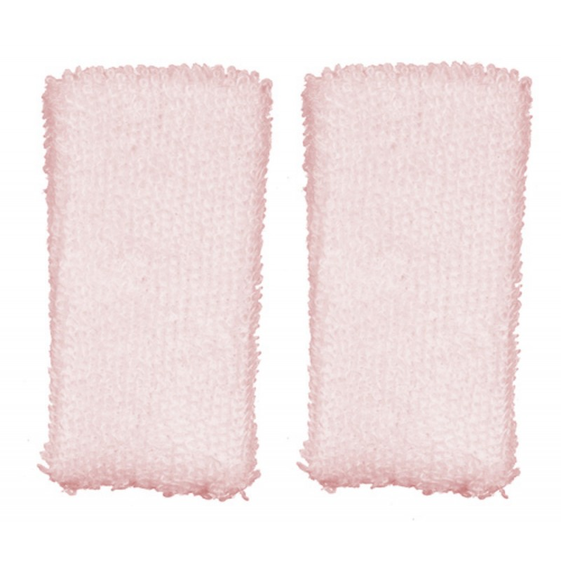 Dolls House Pink Hand Towel Set Miniature 1:12 Scale Towels Bathroom Accessory
