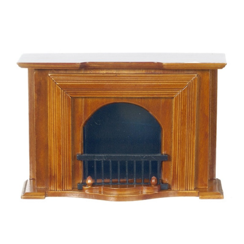 Dolls House Walnut Wooden Georgian Fireplace Miniature Living Room Furniture