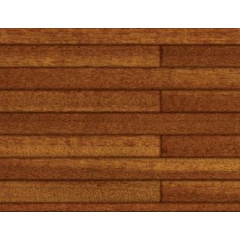 Dolls House Dark Pine Floorboards Miniature 1:12 Flooring Gloss Card Sheet