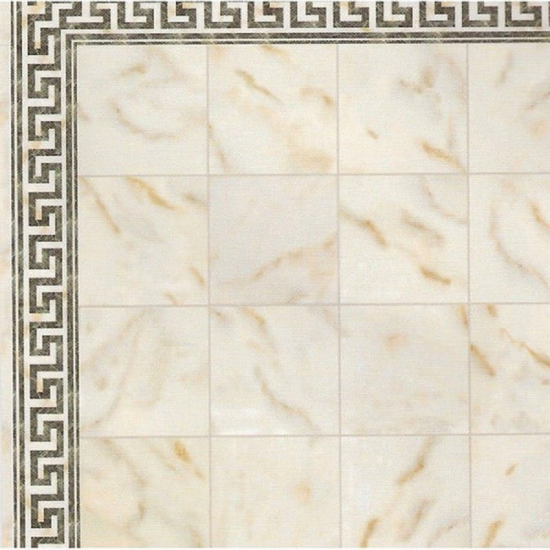 Dolls House Spanish Tile Floor Cream Marble Effect Gloss Card Flooring Sheet
