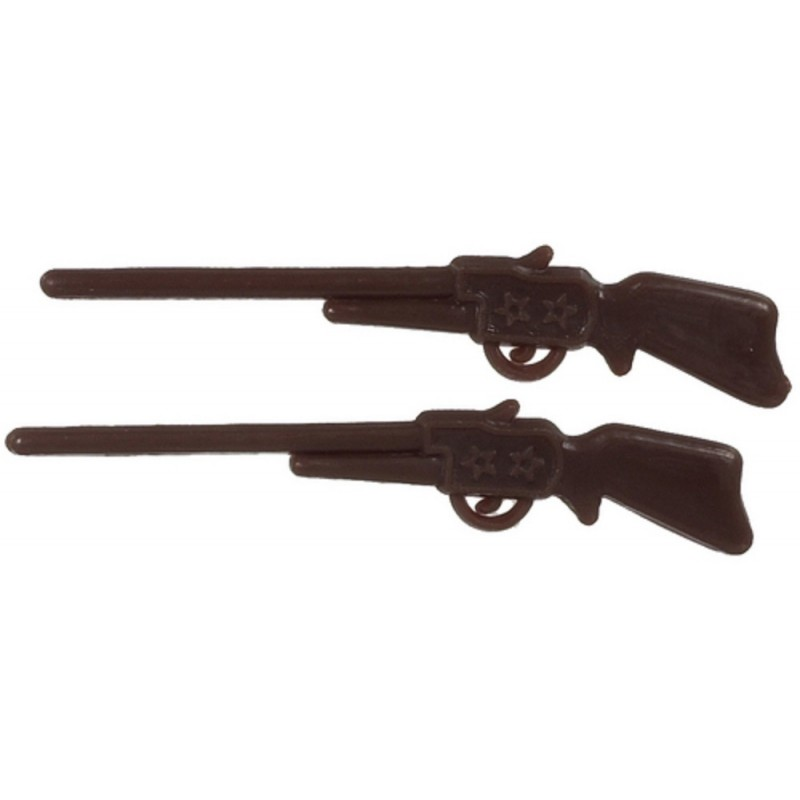 Dolls House Western Rifle Gun Miniature 1:12 Scale Ornament Accessory Set of 2