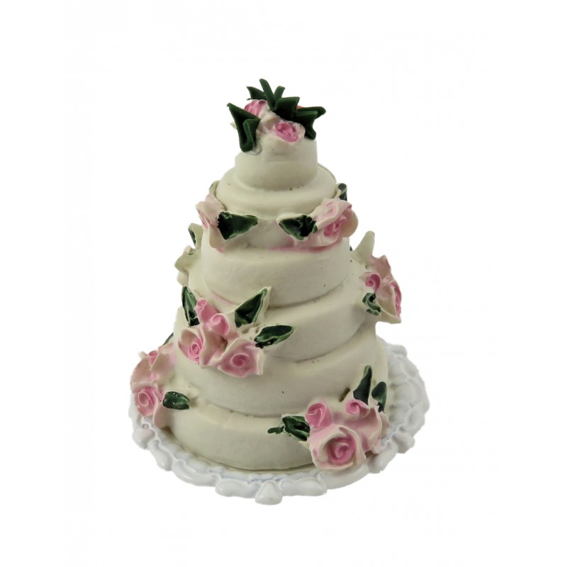 Dolls House 6 Tier Wedding Cake Celebration Party Shop Accessory 1:12 Scale