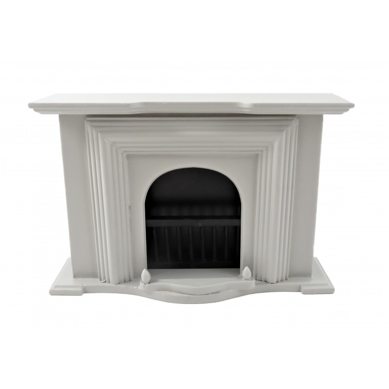 Dolls House Grey Georgian Fireplace Miniature Wooden 1:12 Furniture