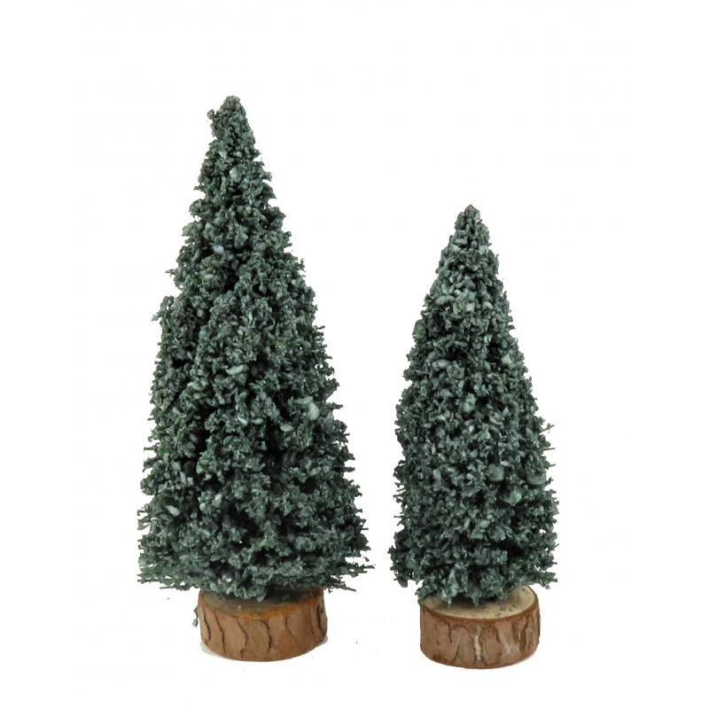 "Dolls House 2"" Evergreen Pine Trees Miniature Christmas Garden Scene Accessory"