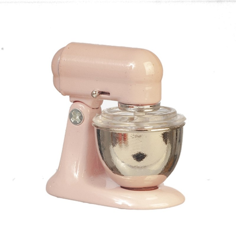 Dolls House Food Mixer Pink Modern Miniature Kitchen Accessory 1:12 Scale