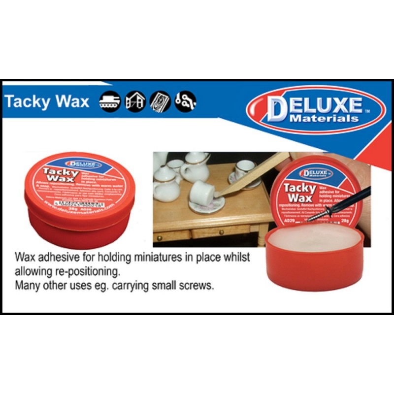 Dolls House Tacky Wax Glue for Holding Miniatures in Place Allows Repositioning