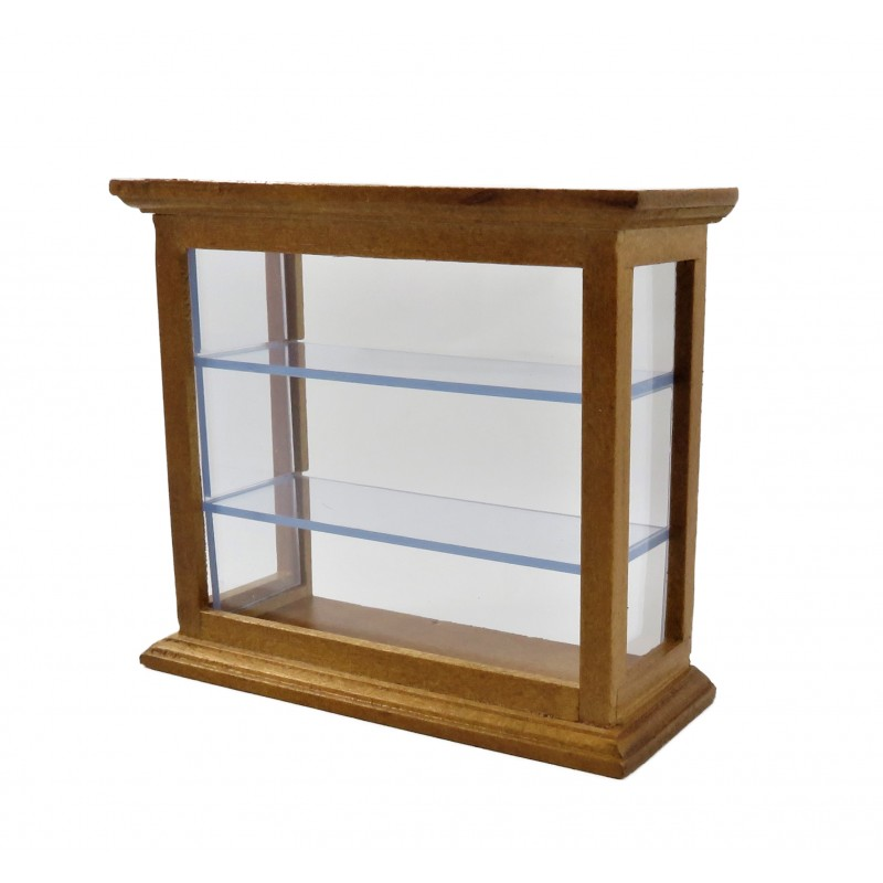 Dolls House Counter Shelf Display Cabinet Shop Fitting Store Furniture Mid Pine