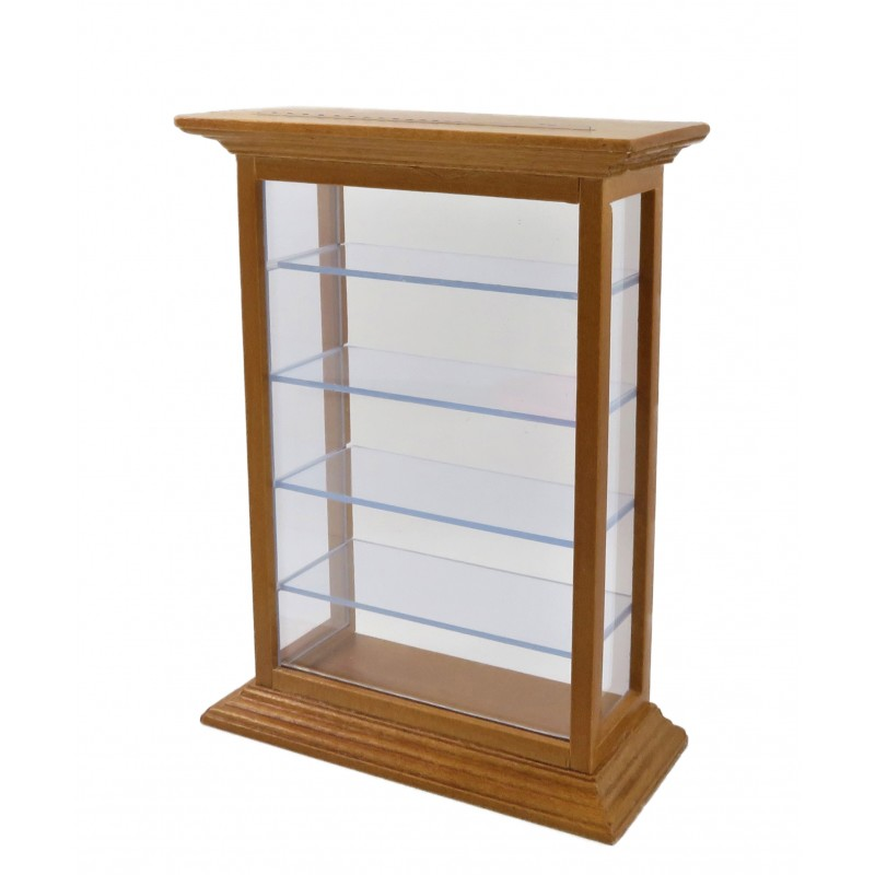 Dolls House Shelf Display Cabinet Unit Shop Fitting Store Furniture Mid Pine