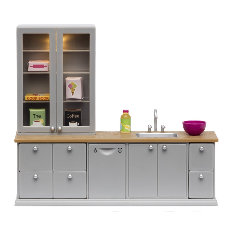 Lundby Dolls House Grey Sink and Dishwasher Set 1:18 Gray Kitchen Furniture