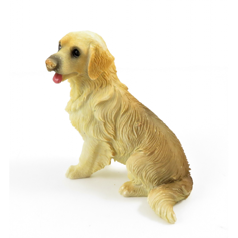 Dolls House Golden Retriever Sitting Pet Dog Miniature 1:12 Scale Accessory