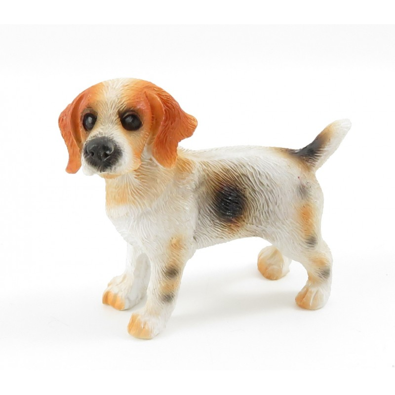 Dolls House Beagle Standing Pet Dog Miniature 1:12 Scale Accessory