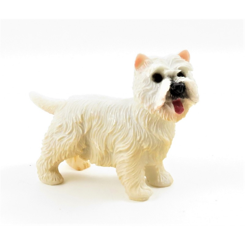 Dolls House West Highland Terrier Sitting Pet Westie Dog Miniature Accessory