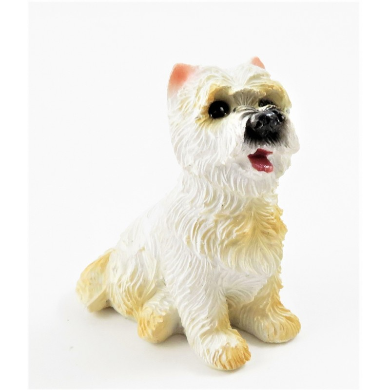 Dolls House West Highland Terrier Standing Pet Westie Dog Miniature Accessory