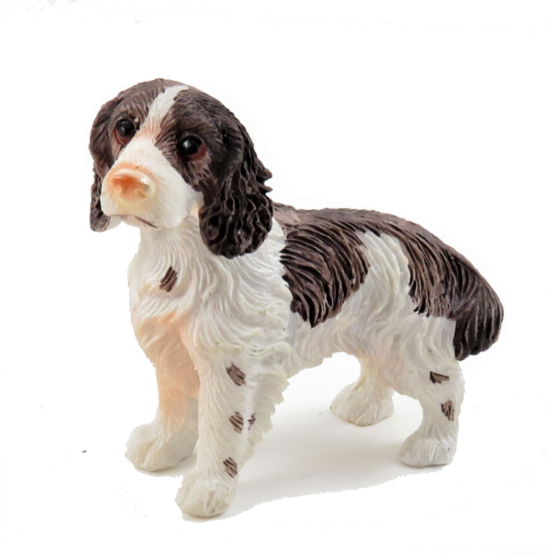Dolls House Springer Spaniel Standing Pet Dog Miniature 1:12 Scale Accessory