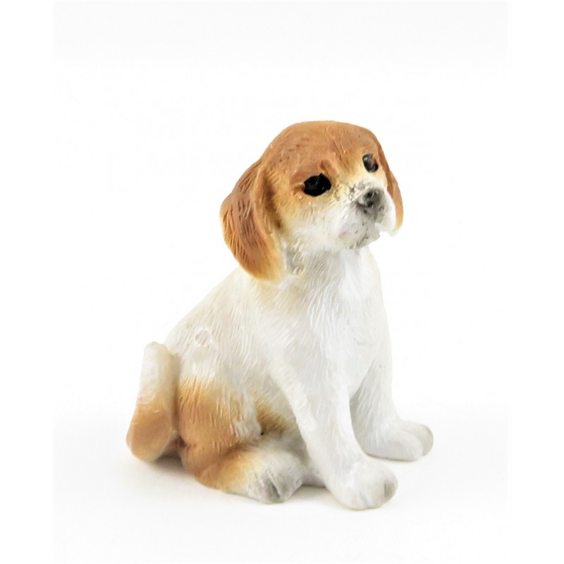 Dolls House Puppy Sitting Pet Small Dog Miniature 1:12 Scale Accessory