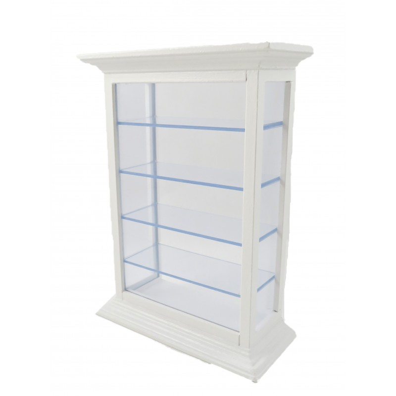Dolls House White Shelf Display Cabinet Unit Shop Fitting Store Furniture 1:12