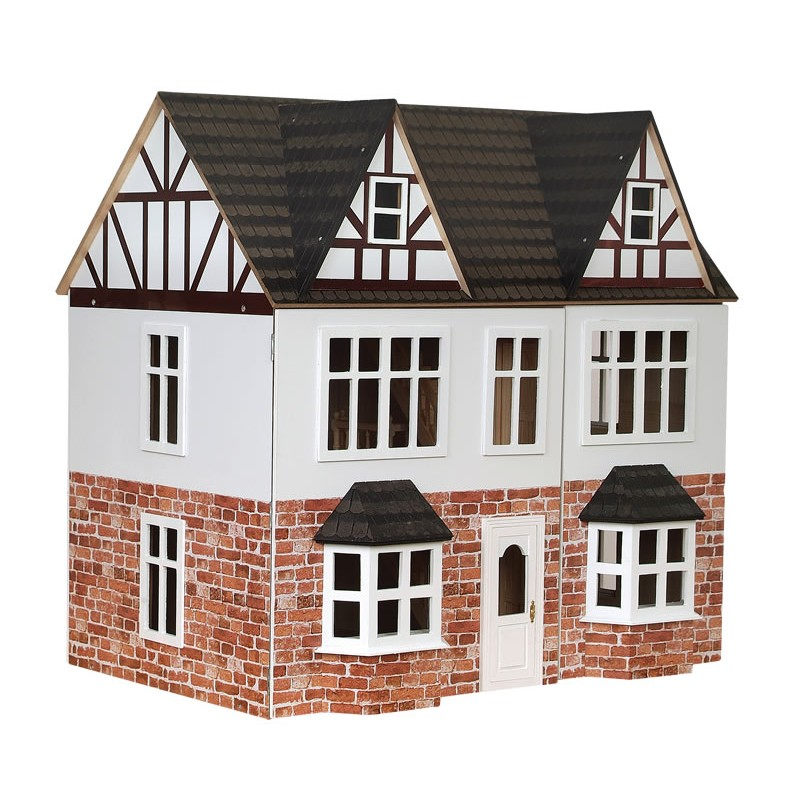 Orchard Avenue Tudor Dolls House Painted Flat Pack Kit 1:12 Scale