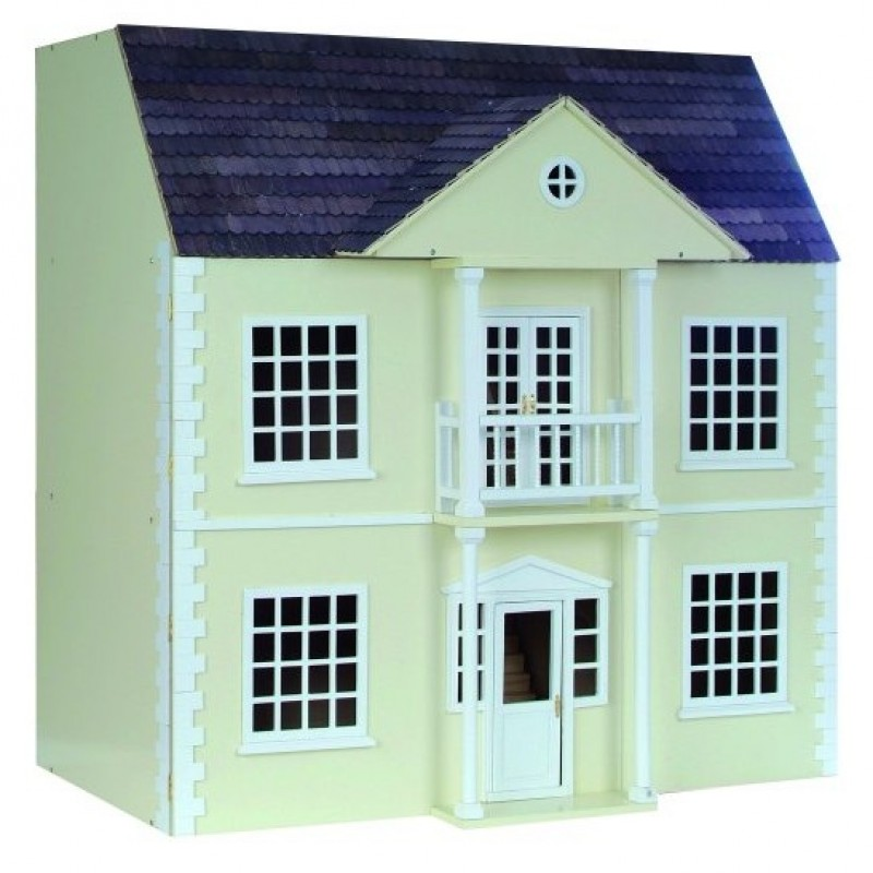 Newnham Manor Georgian Dolls House Painted Flat Pack Kit 1:12 Scale